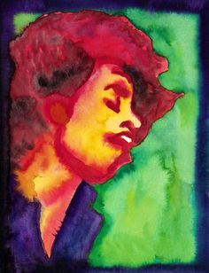 """""""Music is a safe kind of high."""" - Jimi Hendrix........Watercolour on paper, 24 x 32 cm........ ジミ・ヘンドリックス Jimi Hendrix, Watercolour, Paintings, Paper, Music, Painting Art, Pen And Wash, Musica, Watercolor Painting"""