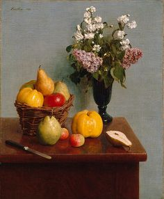 Henri Fantin-Latour Still Life with Flowers and Fruit 1866