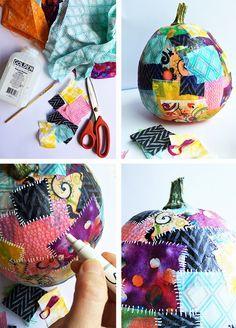DIY - alisaburke: patchwork pumpkins