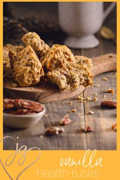 Rusks are the South African version of biscotti, only it's more like a crispy cake and you can make it out of any leftovers, but this version is a nice combo of cakes and whole grains nuts and seeds. Fall Dessert Recipes, Great Desserts, Fall Desserts, Dessert Ideas, Fall Recipes, Rusk Recipe, Almond Bread, Fall Candy, Thing 1
