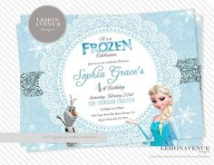 custom frozen birthday invitations | Frozen Invitation Custom Frozen Invitation by LemonAvenueDesigns, $12 ...