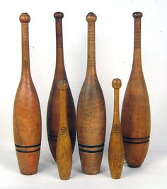 I collect these.  Sometimes they are mistaken for bowling pins; but, they are antique exercise pins.