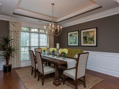 Rustic elegance in the Legacy Cove model home New Home Dining Rooms | Photo Gallery | Jeff Benton Homes