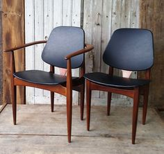 Mid century EON designed dining chairs.