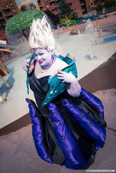 God, this is amazing. Too bad I would never have the talent to pull this off, but WOW!  Ursula the Sea Witch - Homemade Halloween Costume