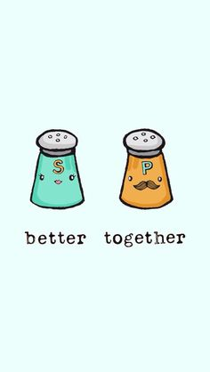 better together wallpaper; Cute Backgrounds, Cute Wallpapers, Wallpaper Backgrounds, Iphone Wallpaper, Food Wallpaper, Cute Food Drawings, Kawaii Drawings, Emoticons, Backrounds