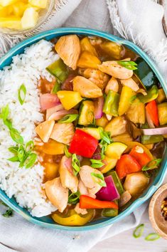 Healthy Sweet and Sour Chicken is a quick and easy weeknight dinner you can get on the table in under 25 minutes. This dish has thick, rich, sweet and tangy sauce that's sugar free and generously coats colourful tender vegetables, thinly sliced chicken breast, and chunks of juicy pineapple. Sweet N Sour Chicken, Fried Vegetables, Vegetable Stir Fry, Easy Weeknight Dinners, Clean Eating Recipes, How To Cook Chicken, Paleo, Dishes, Cooking