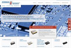 Die Webseite www.Petermann-Technik.de für die Petermann Technik GmbH verwendet Parallax-Effekte für die Darstellung großer Bilder. Außerdem ist für diese Seite eigens ein Produktnummern-Generator entwickelt worden, für die Bestellung der einzelnen Oszillatoren. Die Webseite ist zweisprachig und liest News-Beiträge automatisch aus dem Blog.