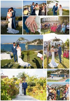 the grass and the sea together make a perfect venue Crete, Real Weddings, Wedding Planner, Grass, Blue Green, Sea, Image, Wedding Planer, Duck Egg Blue