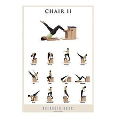 Balanced Body Chair II Exercise Poster