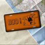 Halloween Boo Personalized License Plate #halloween #happyhalloween #halloweenparty #halloweenmakeup #halloweencostume