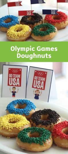 Everyone loves a sweet treat with a festive theme. These Olympic Games Doughnuts are no exception! The colorfully sprinkles of this dessert recipe are sure to help your family get ready to cheer.