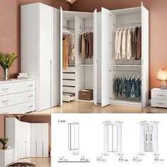 Corner Wardrobe, Wardrobe Room, Wardrobe Design Bedroom, Bedroom Bed Design, Bedroom Furniture Design, Girl Bedroom Designs, Small Room Bedroom, Closet Bedroom, Home Decor Bedroom