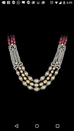 Fancy Fusion diamond + ruby + pearl + kundan set