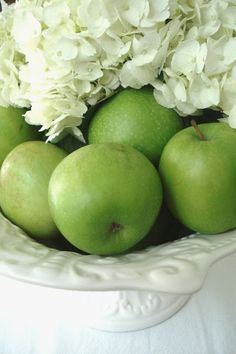 bowl of green apples - Google Search