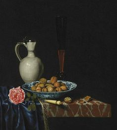 Hubert van Ravesteyn Still Life with Wan-Li Bowl of Walnuts 17th century