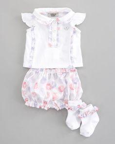 POPSUGAR Shopping: Armani Junior Ruffle-Trim Top, Bloomers & Socks