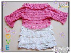 TRICO y CROCHET-madona-mía: Patrón de vestidos de crochet para niñas