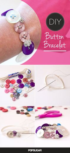 Button bracelets that are so easy to make! Perfect for a niece, daughter, or any other little girl in your life! I will be making one for myself.