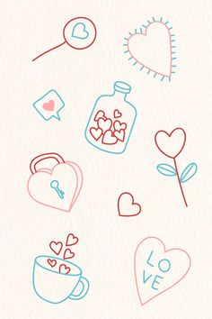 valentine doodles hand drawn valentines drawing rawpixel simple doodle draw premium diy vector hands sold journal heart