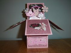 Pop up box card ballerina themed.