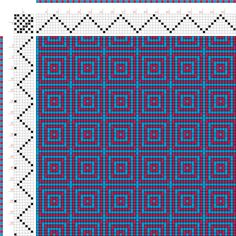 draft image: Figurierte Muster Pl. XXVIII Nr. 6, Die färbige Gewebemusterung, Franz Donat, 7S, 7T Weaving Designs, Weaving Projects, Weaving Patterns, Mosaic Patterns, Textile Patterns, Knitting Designs, Inkle Weaving, Inkle Loom, Tablet Weaving