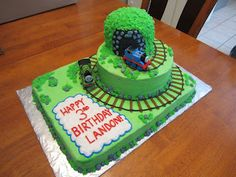 Thomas the Train cake made by my talented sister