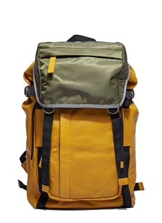 MARNI Men'S Leather Utility Backpack In Mustard And Khaki. #marni #bags #leather…