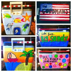 I painted this cooler for my lake house this summer!