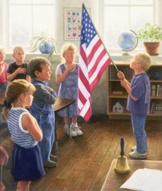 I pledge allegiance.....we did this when I was in school first thing every morning....how the world has changed!!