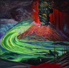 Dr Atl, Erupción del Paricutín (Explosión  lateral en el anverso)