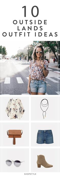 Chic and summery. We love this festival outfit.
