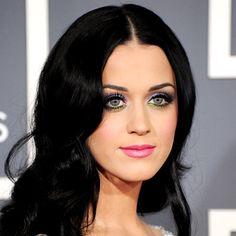 Katy Perry green & purple eyes