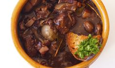 The perfect recipe for boeuf bourguignon.     Easy to make, a delight to enjoy.