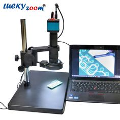 269.99$  Buy now - http://ali5n9.worldwells.pw/go.php?t=32662560053 - Lucky Zoom Brand 14MP HDMI USB Industry Lab Video Microscope Set Camera + 180X C-MOUNT Lens + 144 LED Light Free Shipping