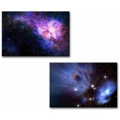 Wall26 Canvas Prints Wall Art Starry Deep Outer Space Nebual and... ($35) ❤ liked on Polyvore featuring home, home decor, wall art, canvas wall art, outer space wall art, modern canvas wall art, planet wall art and nebula wall art