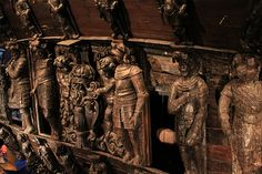 Carvings from the ships exterior . like they were just finished yesterday. Wooden Ship, Tall Ships, Ship Art, Model Ships, Stockholm, Sailing Ships, Wood Art, Sweden, Old Things