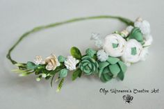 Boho Rustic Untailored whimsy Floral headband, Bridal wreath, garland with succulents and ranunculus, Bridal tiara, floral crown