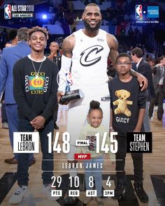 LeBron with his children and MVP trophy Basketball Jones, Basketball Funny, Basketball Players, Mvp Trophy, Magic Johnson, King James, Lebron James, All Star, Nba