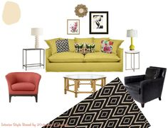 boho chic great room SQUEAL(ishly good)