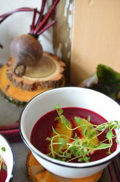 Ninas kleiner Food-Blog: Vorspeise zum Rote-Bete-Menü: Rote-Bete-Orangen-Suppe
