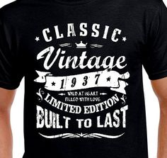 Items Similar To 80th Birthday Gift For Daddy T Shirt Funny Age Turning 80 Years Old 1938 Vintage Grandpa Mother Grandma Husband Hilarious Classic