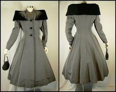 Vintage 50s Wasp Waist Coat XS S Hourglass Black Pinstripe Velvet Shawl Collar | eBay