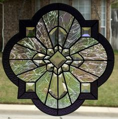 Image result for quatrefoil stained clear glass