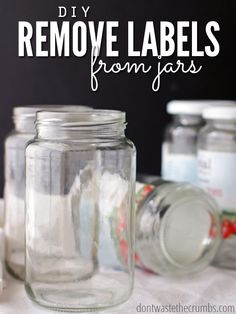 Learn the simple trick for remove labels from jars using a common ingredient you already have on hand! Ready in minutes, cheaper than buying new jars!