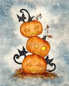 Fairy Art Artist Amy Brown: The Official Online Gallery. Fantasy Art, Faery Art, Dragons, and Magical Things Await. Samhain Halloween, Halloween Rocks, Halloween Cat, Vintage Halloween, Halloween Pumpkins, Happy Halloween, Halloween Artwork, Halloween Painting, Easy Pencil Drawings