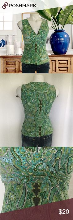 "HOST PICK INC Paisley Print Top Festive Fashion HP by @lorriebug 7/8/17Measures about 17"" across the armpits and 21"" in length.  100% Nylon.  Sleeveless, v-neck, empire waist, fully lined.  In great pre-loved condition.  No trades. I.N.C. Tops"