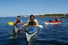 Sea kayaking from Ísafjörður in the Westfjords. #arcticadventures #iceland