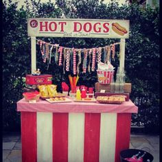 tone down, hotdog bar with all the trimmings for  the baby shower ... add french-fries.