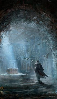 via Ano Mander and Nic Carpenter - A great piece of Assassin's Creed concept art. This could be Ezio maybe, perhaps in Assassin's Creed: Revelations. It's hard to say!